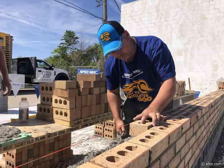 Wyandotte mason lays 571 bricks to become 'Oklahoma's Best Bricklayer'