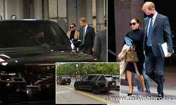 Self-proclaimed eco-warriors Meghan and Harry travel around NYC in three gas-guzzling SUVs