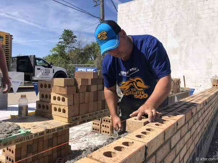 Wyandotte mason lays 571 bricks to become 'Oklahoma's Best Bricklayer', heading to championship in Las Vegas