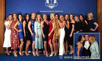 Team Europe's wives and girlfriends wowed gala onlookers ahead of Ryder Cup's big day