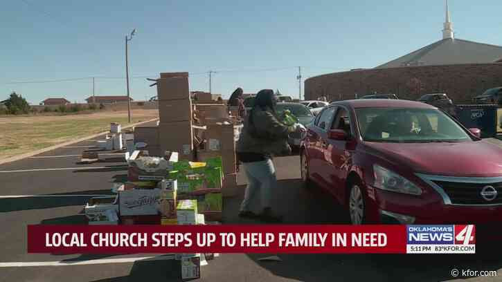 'Since we've moved up here, they have really been a big help.' Young couple returns to Oklahoma after losing jobs during pandemic, is blessed by the generosity of local church