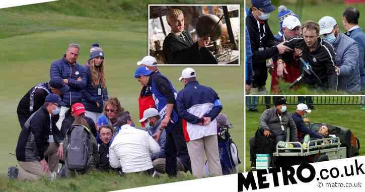 Harry Potter star Tom Felton stretchered off golf course after 'collapsing' in medical emergency during celebrity Ryder Cup game