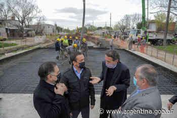Katopodis recorrió obras hídricas y viales en Florencio Varela - Argentina.gob.ar Presidencia de la Nación