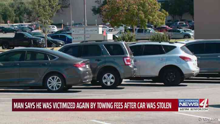 Oklahoma man upset he had to pay wrecker service after car was stolen