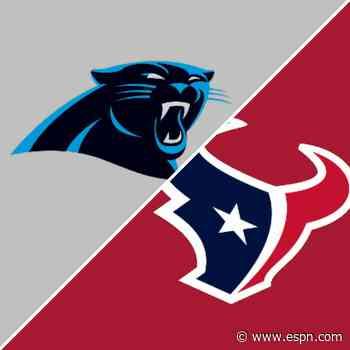 Follow live: Rookie QB Davis Mills, Texans host the 2-0 Panthers