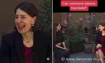 TikTok of Gladys Berejiklian speaking Armenian has fans guessing what the NSW Premier is saying