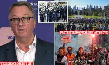 Victoria health officials slam Melbourne protesters after man from rally is hospitalised with Covid