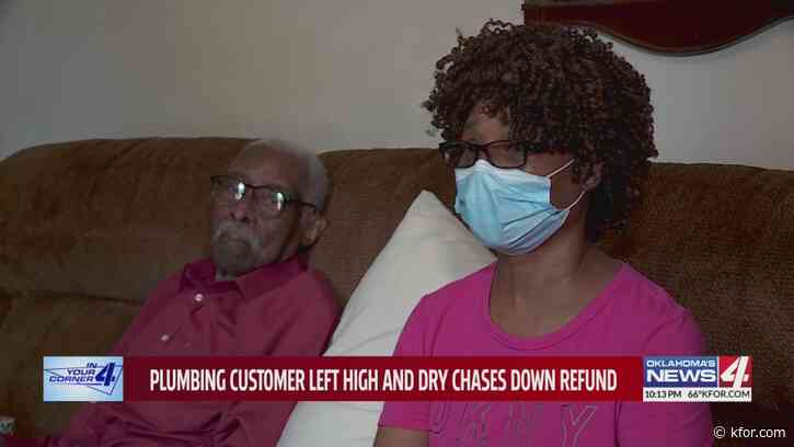 Plumbing customer left high and dry chases down refund