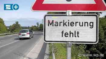 Alter Radweg an B 7 zwischen Hemer und Menden weggefräst - WP News