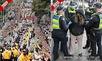 Melbourne protests: Parade of ARRESTS replaces Grand Final Parade