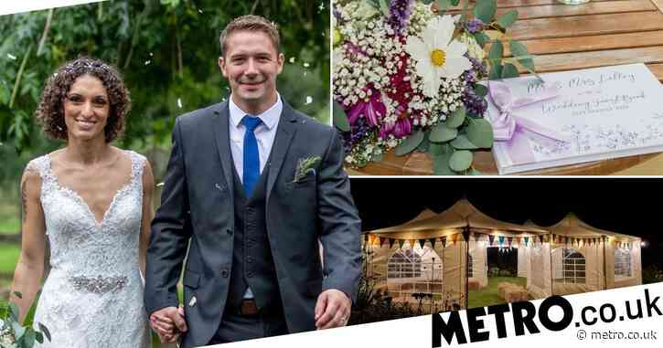 Thrifty couple spend just £4,000 on dream wedding – by doing everything themselves