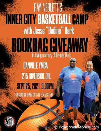 Roundball legends Neblett and Dark host bookbag giveaway in Danville - Richmond Free Press