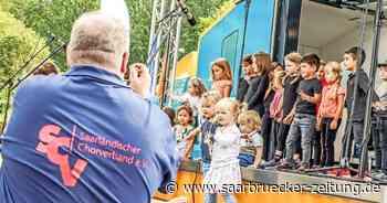 Kinderchor-Festival fand im Blumengarten Bexbach statt - Saarbrücker Zeitung