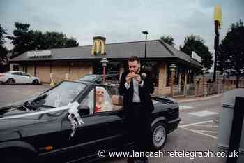 Newlyweds stop off at Burnley McDonald's on their wedding day