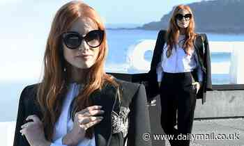 Jessica Chastain nails sartorial chic for The Eyes Of Tammy Faye at San Sebastian Film Festival