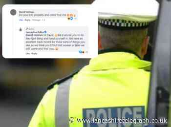 Wanted man found after telling police to 'come find him' on social media