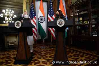 Kamala Harris hails India's vaccination drive in first meeting with Narendra Modi in Washington