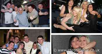 A night out in Newcastle in 2006 - 10 photographs of lads and lasses having fun