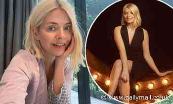 Holly Willoughby goes makeup-free while enjoying a cuppa  before working on next podcast episode