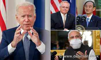 Joe Biden hosts first in-person Quad summit at the White House