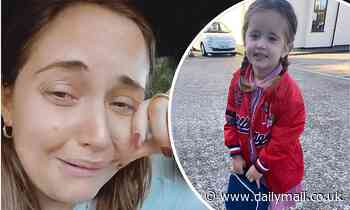Jacqueline Jossa is left feeling emotional after dropping her daughter Mia off at pre-school