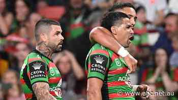 NRL live: Rabbitohs holding commanding lead over Sea Eagles in preliminary final