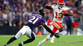 Behind Tyreek Hill, Chiefs continue a wide receiver by committee approach