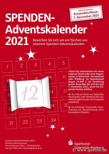 Anzeige: Spenden-Adventskalender 2021 der Sparkasse Gütersloh-Rietberg, Gütsel, das Print- und Onlinemagazin für den Kreis Gütersloh mit News, Kultur, Veranstaltungen und mehr … - Gütsel