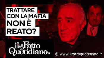 Trattare con la mafia non è reato? Segui la diretta con Peter Gomez