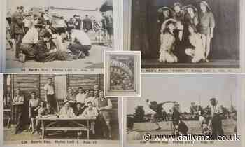 Photos show WWII Stalag Luft III inmates performing drag-acts and playing sports before Great Escape