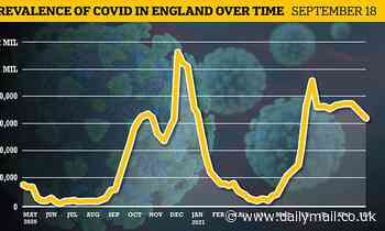 England's Covid outbreak shrunk by 11% last week, official data shows