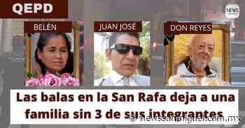 Las balas de la masacre en la San Rafael dejaron a una familia sin 3 de sus integrantes - News San Miguel
