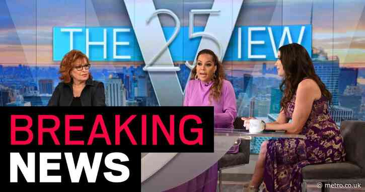 The View hosts Sunny Hostin and Ana Navarro get positive Covid test results live on air before Kamala Harris interview