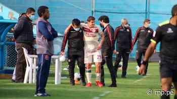 No pudo continuar: Aldo Corzo salió lesionado en partido ante Alianza Universidad - La10