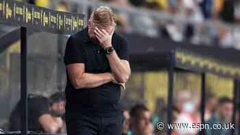 Embattled Koeman to miss crucial Barca-Atleti clash