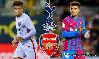 Tottenham and Arsenal 'open to signingPhilippe Coutinho on loan in January'