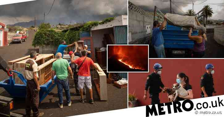 Three more towns evacuated as volcanic eruption on Spanish island enters fifth day