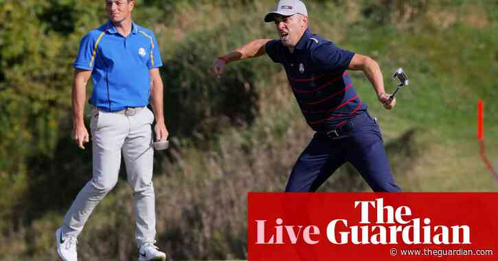 Ryder Cup: USA lead Europe 6-2 after dominant day one display – as it happened