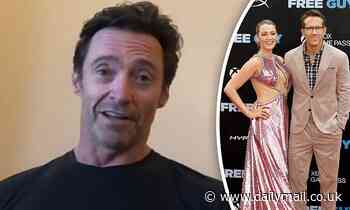 Hugh Jackman shares sweet tribute to Blake Lively... before taking a cheeky dig at Ryan Reynolds