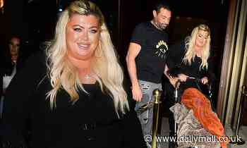 Gemma Collins leaves Carlton Tower with on-again beau Rami Hawash and his son