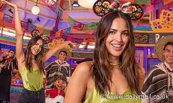 Eiza Gonzalez attends Day of the Dead bash with A Musical Celebration Of Coco cast at Disneyland