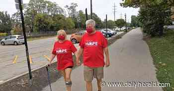 Walk for Brain Aneurysm Awareness on Sunday morning at College of DuPage
