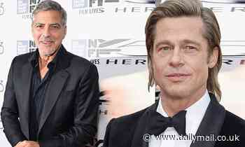 George Clooney and Brad Pitt sign on for upcoming thriller film, igniting studio bidding war
