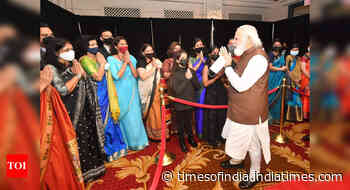 PM Modi meets people of Indian Diaspora outside hotel in New York