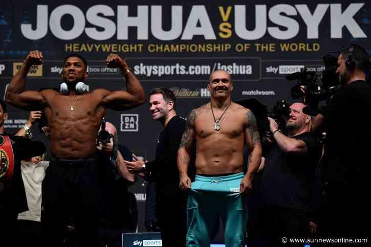 Joshua, Usyk: In heavyweight title showdown