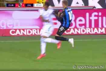🎥 | Karate? Club Brugge-sensatie Noa Lang krijgt geel voor Nigel de Jong-imitatie - Sportnieuws.nl
