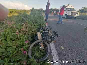 En El Rosario, dos motociclistas muertos deja choque de frente entre ellos - Noroeste