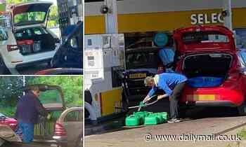 Selfish drivers pack their cars with jerry cans and fill tanks to the brim