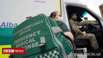Soldiers arrive in Scotland to drive ambulances