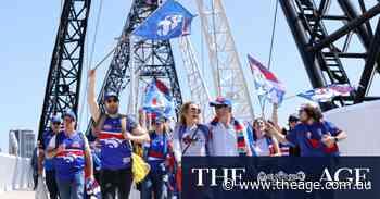 Fans in Perth arrive for the 2021 AFL GRAND FINAL - Melbourne Demons v Western Bulldogs